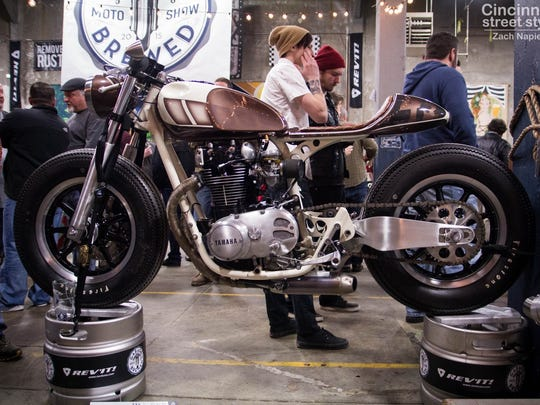 A cafe racer at last year's event.