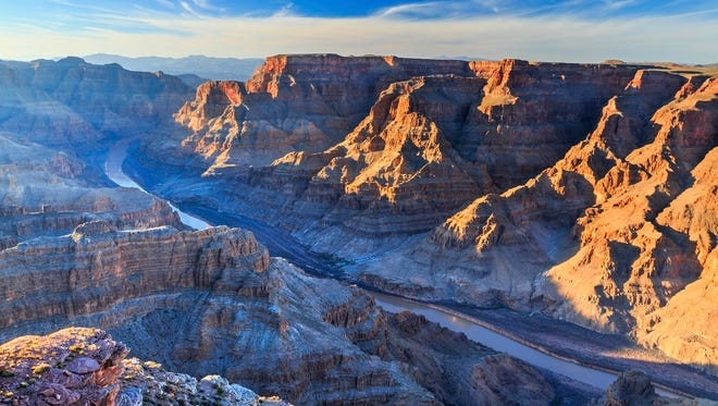 Guano Point at Grand Canyon West boasts a 360-degree view of the canyon and the snaking Colorado River.