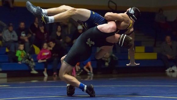 Delone Catholic's Zach Hart takes down Littlestown's