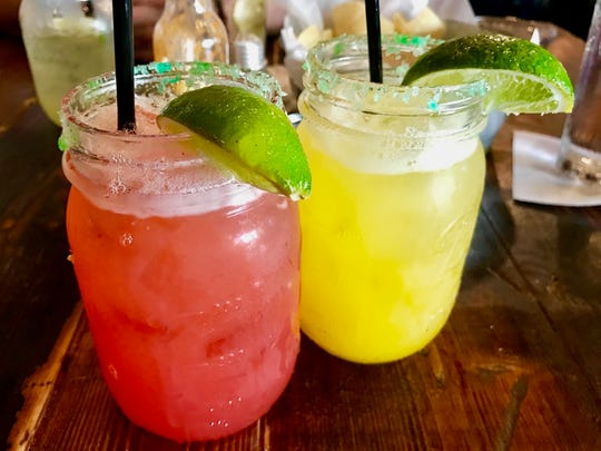 The raspberry and mango house margarita served at Tacos and Tequila Cantina in North Naples.