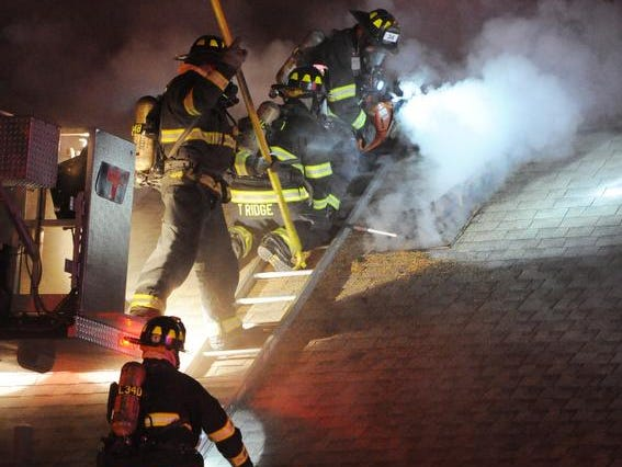 Indianapolis firefighters were sent to the house fire at Southview Drive and Orinoco Avenue shortly after 9 p.m. Monday.