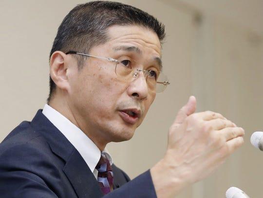 Nissan Motor Co. Chief Executive Hiroto Saikawa speaks