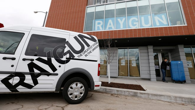 Raygun is a printing, design and clothing company located in the East Village in Des Moines.
