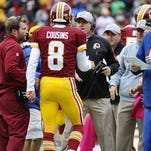 A lot at stake today for Kirk Cousins and Jay Gruden.