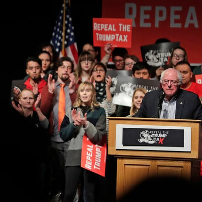 Sen. Bernie Sanders (I-VT) speaks at the Weidner Center