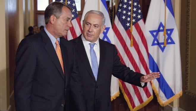 House Speaker John Boehner and Israeli Prime Minister Benjamin Netanyahu on Capitol Hill in 2011.