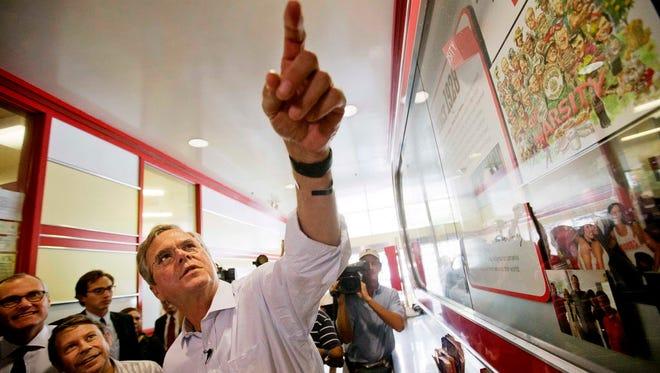 Former Florida governor Jeb Bush campaigns in Atlanta on Aug. 18, 2015.