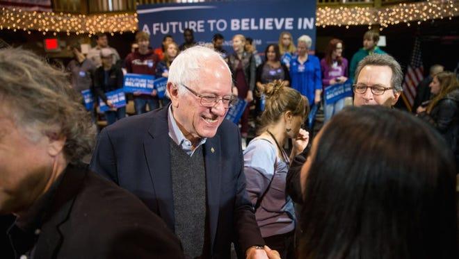 Bernie Sanders campaigns in Fort Dodge, Iowa, on Jan. 19, 2016.