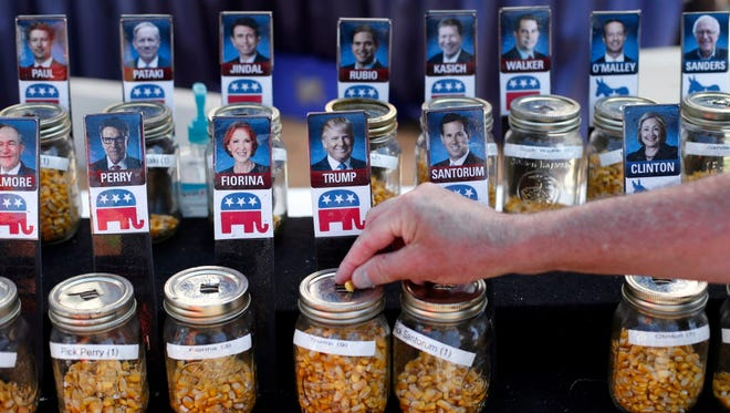 """Cast a kernel"" vote at the 2015 Iowa State Fair in Des Moines."