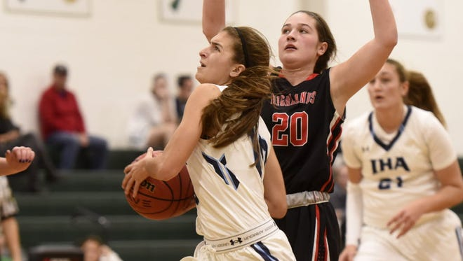 Immaculate Heart Academy senior guard Katie Jones entered the season as the Blue Eagles' only returning starter. Jones, who scored 10 points in Tuesday's win over Kennedy, has plenty of trust in her young teammates.
