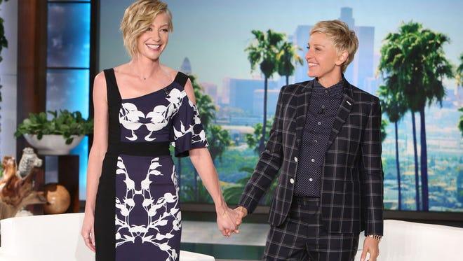 Portia de Rossi with Ellen DeGeneres.