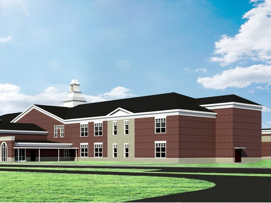 A provided image of the new Spottsville Elementary