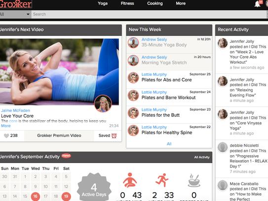 A screenshot of a the Grokker app.