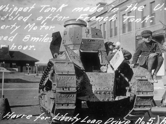 A Whippet tank in Havre for a Liberty Loan Drive.