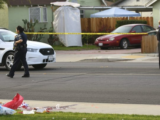 Tulare police investigate an officer-involved shooting on Monday, March 12.