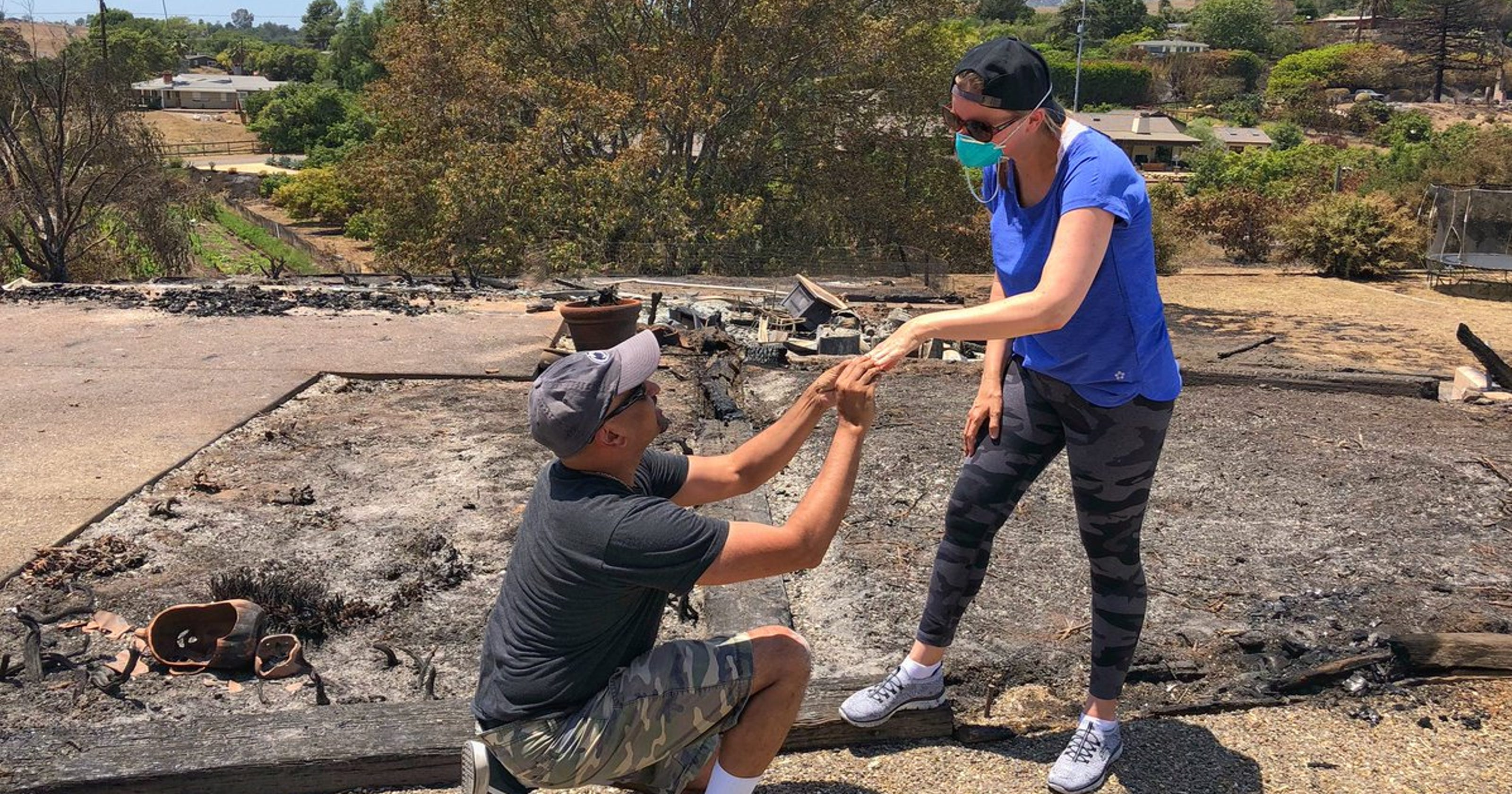In the ashes of their Goleta home, wedding ring scorched by