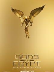 The teaser poster for 'Gods of Egypt.'