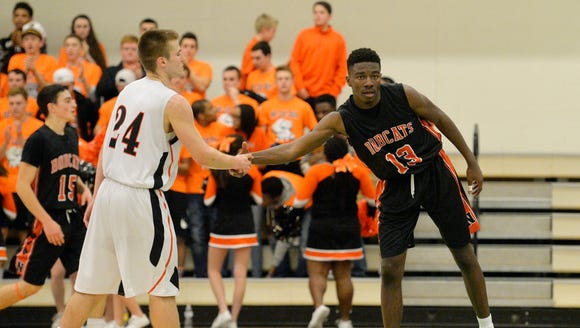 Central York's Jared Wagner, left, and Northeastern's