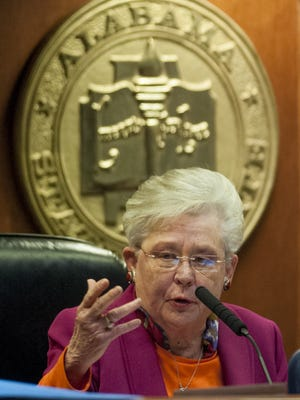 Lt. Gov. Kay Ivey during the legislative session at the Alabama Statehouse in Montgomery on Feb. 9, 2016. If Gov. Robert Bentley were impeached and removed from office, Lt. Gov. Kay Ivey would be our new governor.