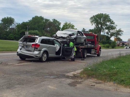 7 injured in multicar crash on east side