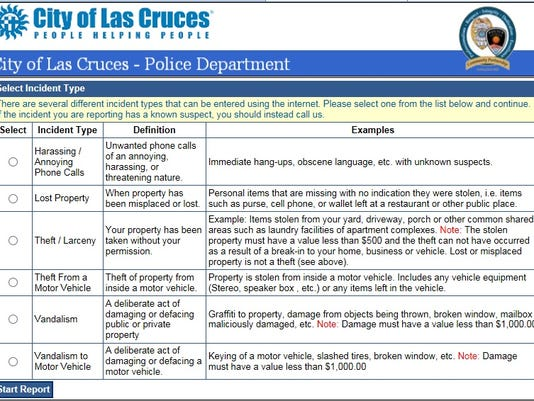 LCPD online reporting