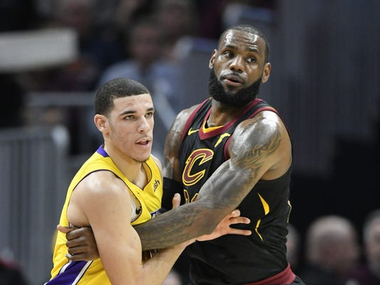 USP NBA: LOS ANGELES LAKERS AT CLEVELAND CAVALIERS S BKN CLE LAL USA OH