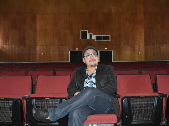 Ernest Ochoco is photographed at the Gifted and Talented Education Theater at Southern High School in Santa Rita, Guam. Ochoco always attaches a cause to his productions.