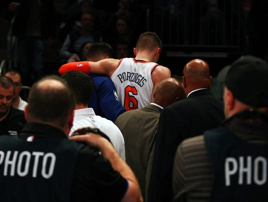 NBA: Miami Heat at New York Knicks