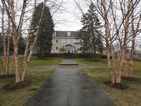 River Birch trees line the way to this 1929 Colonial home for sale on The Parkway in Mamaroneck, March 7, 2017.