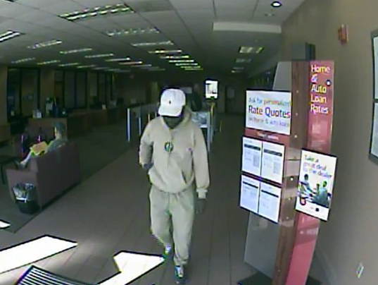 Attempted bank robbery suspect