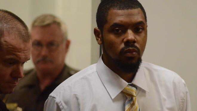 Dezmen Jones enters the courtroom Thursday.