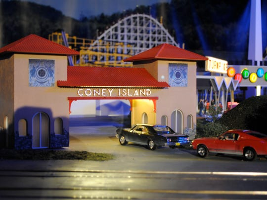 This is a photo of the Coney Island exhibit inside West Chester Township's EnterTRAINment Junction.