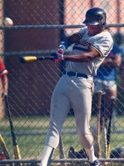 Griffey Jr. playing for Moeller High School.