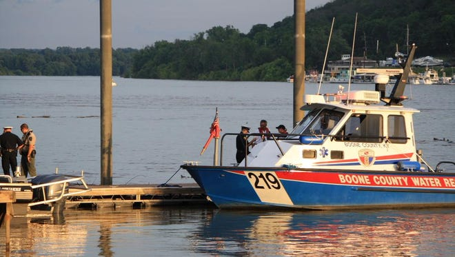 Rescue crews responded to reports of a body in the Ohio River Sunday evening.