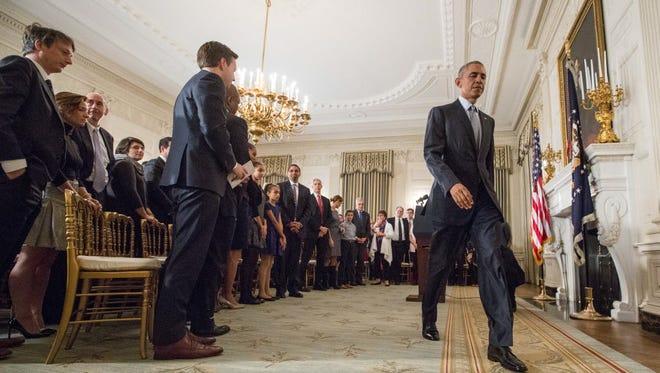 President Obama in Washington on Oct. 2, 2015.