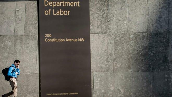 Department of Labor in Washington.