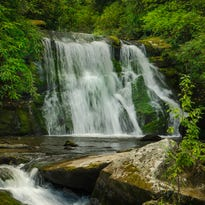 Yellow Creek Falls, part of the 900 acres that was recently donated to the National Wild Turkey Federation.