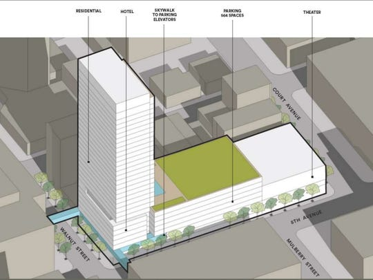 New plans for The Fifth tower at 5th and Court Avenues