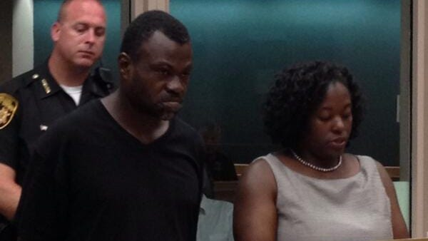 William Pernell, who is accused of shooting another man in the leg, appears at the Hamilton County jail for his arraignment Monday morning with his attorney Ramona Daniels. Judge Heather Russell set Pernell's bond at $100,000.