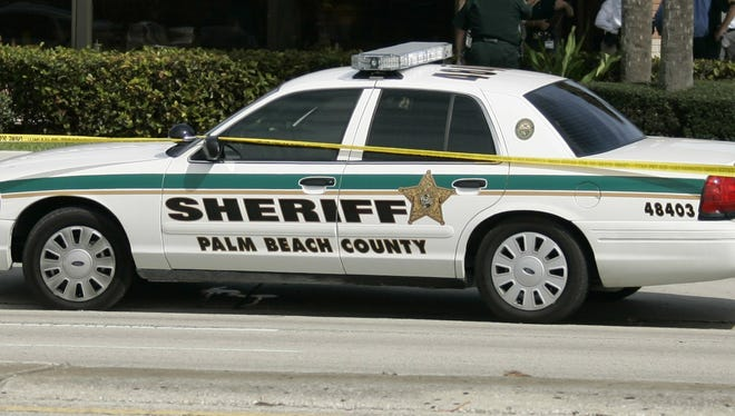 A Palm Beach County Sheriff's patrol car.