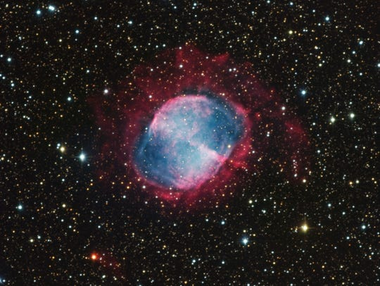 The Dumbbell Nebula, as seen through the Zowada Observatory,