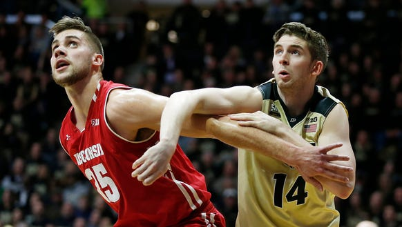 Ryan Cline of Purdue and Alex Illikainen of  Wisconsin
