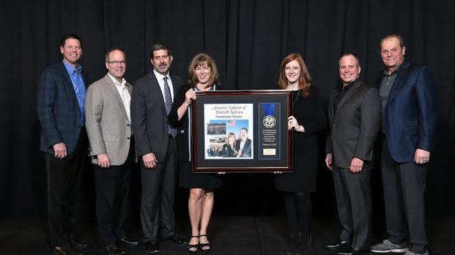 Annette and Patrick Sykora were recognized with a Hometown Hero award by Ford Motor Company.