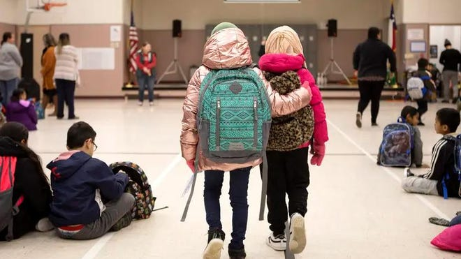 Cactus Elementary School in Cactus on Jan. 28. Texas education officials Friday relaxed a previous order that would have given public schools just three weeks from the start of the fall semester to reopen their classrooms for in-person instruction.