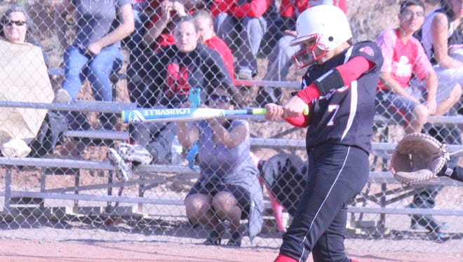 Cobre's Danni Misquez went 2-for-3, with a double and two RBIs during the first of the twin bill Monday against Hot Springs.