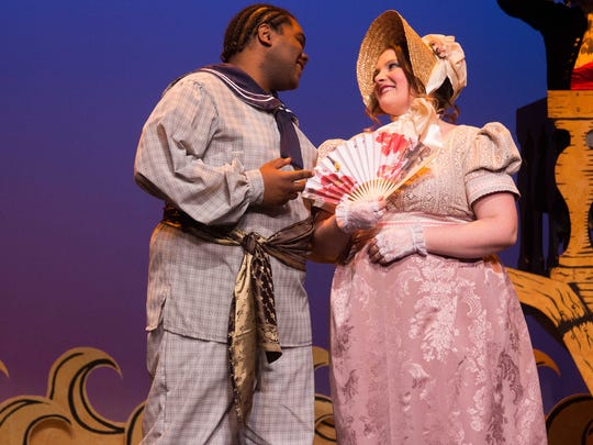 """DeQuan Perry as Fredric and Amanada Adams as Mabel for KCC's upcoming production of """"The Pirates of Penzance."""""""