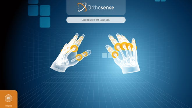 A screenshot of the app Orthosense.