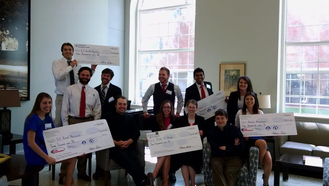 A total of $12,500 in cash and prizes were awarded last week to the most innovative, student-developed product and service ideas at the 2016 TOP DAWG New Venture Championship at Louisiana Tech University.
