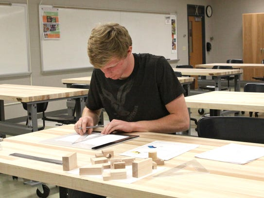 A student works in the STEM (Science, Technology, Engineering,