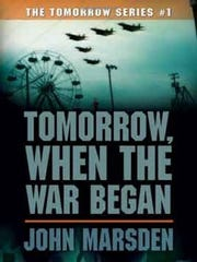 """""""Tomorrow, When the War Began"""" is a book about teenagers caught in the wilderness when an invading force occupies Australia. John Marsden is the author of the series."""